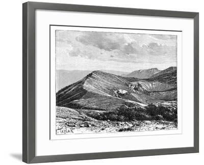 Summit of Mount Irazu, Costa Rica, C1890--Framed Giclee Print