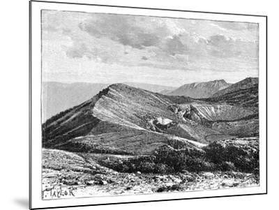 Summit of Mount Irazu, Costa Rica, C1890--Mounted Giclee Print