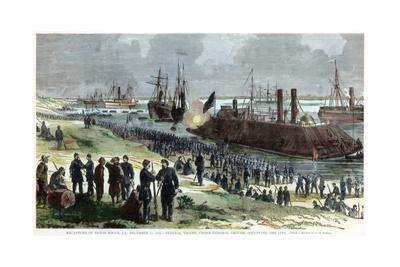 Recapture of Baton Rouge, Louisiana, American Civil War, December 1862-FH Schell-Stretched Canvas Print