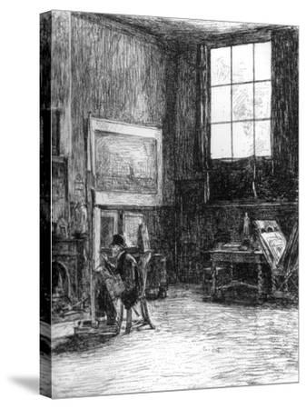 The Studio (Nort), C1880-1882-Jozef Israels-Stretched Canvas Print
