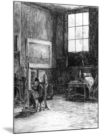 The Studio (Nort), C1880-1882-Jozef Israels-Mounted Giclee Print