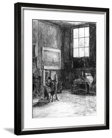 The Studio (Nort), C1880-1882-Jozef Israels-Framed Giclee Print