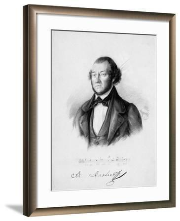 Portrait of the Composer Alexander Aleksandrovich Alyabyev (1787-185), 1844-Pavel Andreevich Andreev-Framed Giclee Print