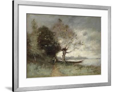 Bank of the Loire Near Chouze, 1893-Paul Desire Trouillebert-Framed Giclee Print