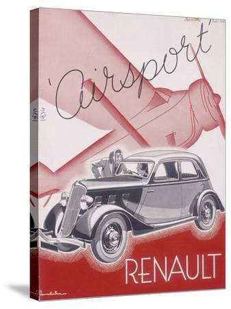 Poster Advertising Renault Cars, 1934--Stretched Canvas Print