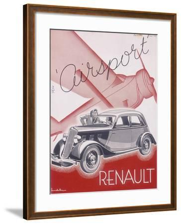 Poster Advertising Renault Cars, 1934--Framed Giclee Print
