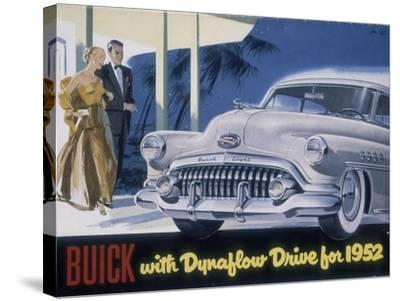 Poster Advertising a Buick, 1952--Stretched Canvas Print