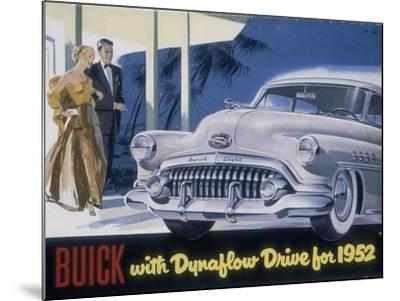 Poster Advertising a Buick, 1952--Mounted Giclee Print