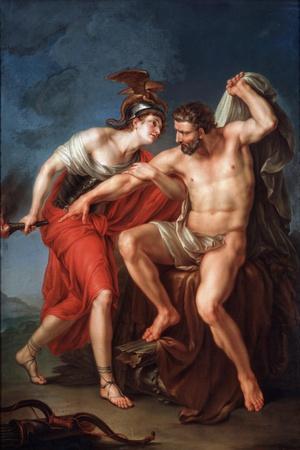 The Self-Immolation of Hercules, 1782-Ivan Akimovich Akimov-Stretched Canvas Print