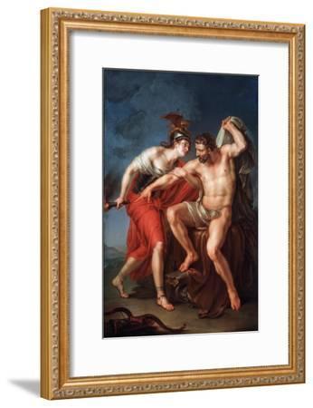 The Self-Immolation of Hercules, 1782-Ivan Akimovich Akimov-Framed Giclee Print