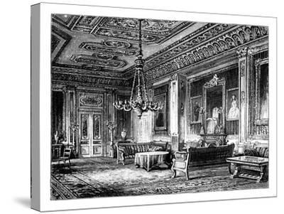 The Crimson Drawing-Room, Windsor Castle, C1888--Stretched Canvas Print