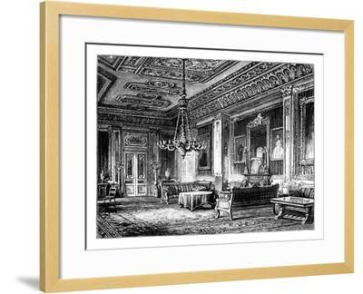 The Crimson Drawing-Room, Windsor Castle, C1888--Framed Giclee Print