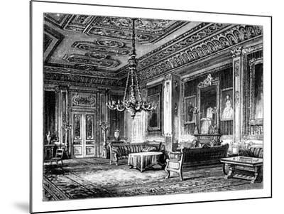 The Crimson Drawing-Room, Windsor Castle, C1888--Mounted Giclee Print