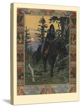 Illustration for the Fairy Tale of Vasilisa the Beautiful and White Horseman, 1900-Ivan Yakovlevich Bilibin-Stretched Canvas Print