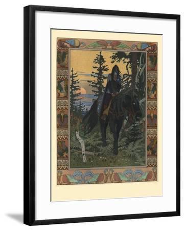 Illustration for the Fairy Tale of Vasilisa the Beautiful and White Horseman, 1900-Ivan Yakovlevich Bilibin-Framed Giclee Print
