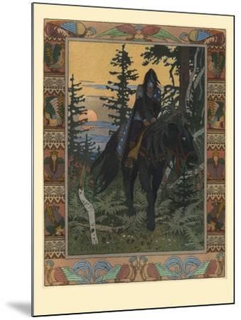 Illustration for the Fairy Tale of Vasilisa the Beautiful and White Horseman, 1900-Ivan Yakovlevich Bilibin-Mounted Giclee Print