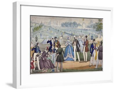 View of St James's Park from Green Park, Westminster, 1820-Benjamin Read-Framed Giclee Print