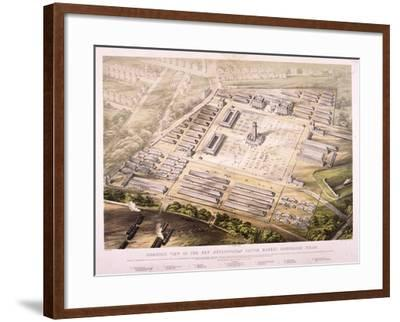 Metropolitan Cattle Market, London, 1855--Framed Giclee Print