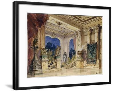 Stage Design for the Opera the Scarlet Rose by N. Krotkov, 1884-Vasili Dmitrievich Polenov-Framed Giclee Print