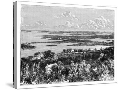 View Taken from Gibb's Hill, Bermudas, C1890--Stretched Canvas Print
