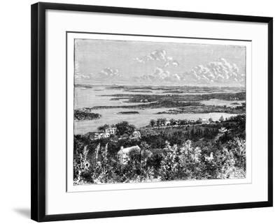 View Taken from Gibb's Hill, Bermudas, C1890--Framed Giclee Print