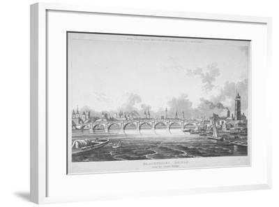 View of Blackfriars Bridge from the Strand Bridge, London, 1815-Thomas Hosmer Shepherd-Framed Giclee Print