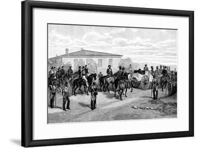 The Burial of Lord Raglan Near Sevasopol, 1855-William Simpson-Framed Giclee Print