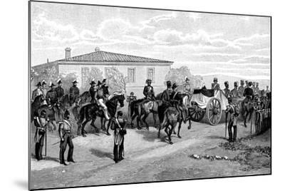 The Burial of Lord Raglan Near Sevasopol, 1855-William Simpson-Mounted Giclee Print