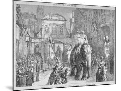 View of Temple Bar During the Lord Mayor's Day, City of London, 1876--Mounted Giclee Print