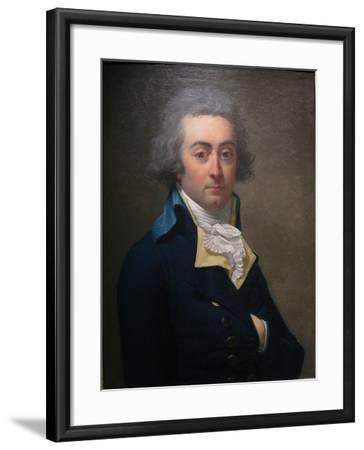 Portrait of Marie-Jean Hérault De Séchelles (1759-179), Second Half of the 18th C-Jean-Louis Laneuville-Framed Giclee Print