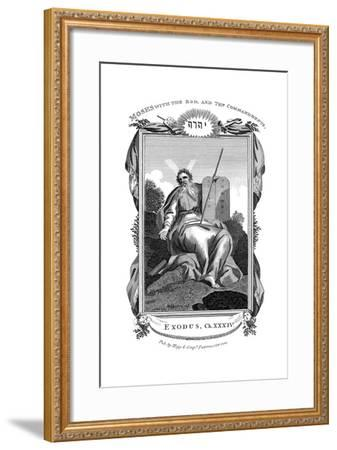 Moses with the Rod, and Ten Commandments, C1808--Framed Giclee Print