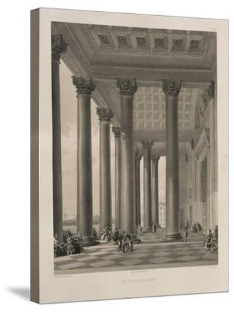 The North Portal of the Saint Isaac's Cathedral, 1845-Auguste de Montferrand-Stretched Canvas Print