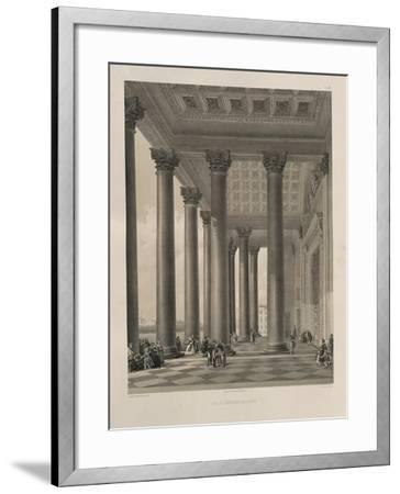The North Portal of the Saint Isaac's Cathedral, 1845-Auguste de Montferrand-Framed Giclee Print