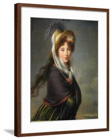 Portrait of Princess Irina Ivanovna Vorontsova, Née Izmaylova (1768-184), Ca 1797-Marie Louise Elisabeth Vig?e-Lebrun-Framed Giclee Print