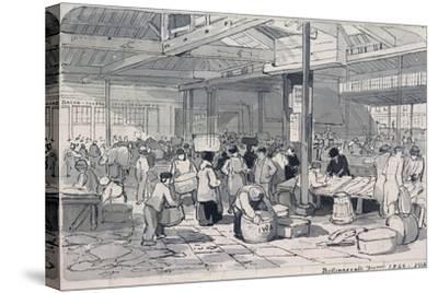 Billingsgate Market, London, 1849--Stretched Canvas Print
