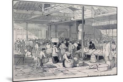 Billingsgate Market, London, 1849--Mounted Giclee Print