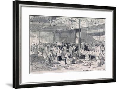 Billingsgate Market, London, 1849--Framed Giclee Print