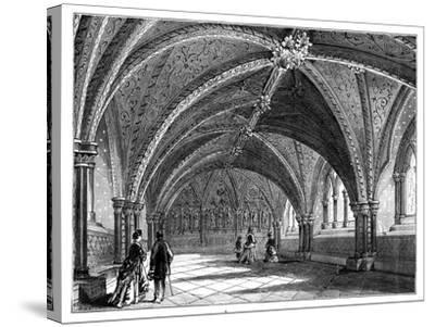 St Stephen's Crypt, Westminster Palace, London, C1888--Stretched Canvas Print