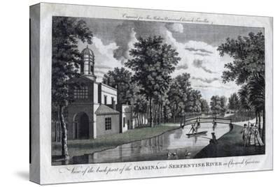 View of the Back Part of the Cassina and Serpentine River in Chiswick Gardens, London--Stretched Canvas Print