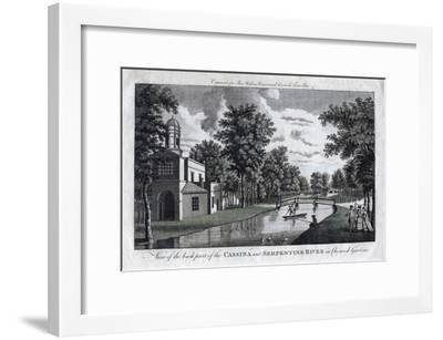 View of the Back Part of the Cassina and Serpentine River in Chiswick Gardens, London--Framed Giclee Print