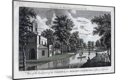 View of the Back Part of the Cassina and Serpentine River in Chiswick Gardens, London--Mounted Giclee Print