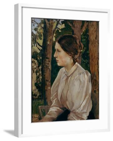 Portrait of Tatyana Viktorovna Vasnetsova, The-Viktor Mikhaylovich Vasnetsov-Framed Giclee Print