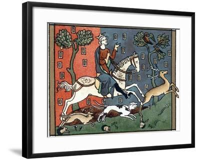 A Plantagenet King of England Out Hunting--Framed Giclee Print