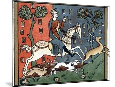 A Plantagenet King of England Out Hunting--Mounted Giclee Print