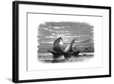 Arab Dhows on the Red Sea, C1890--Framed Giclee Print