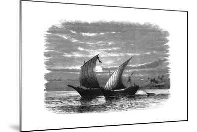 Arab Dhows on the Red Sea, C1890--Mounted Giclee Print