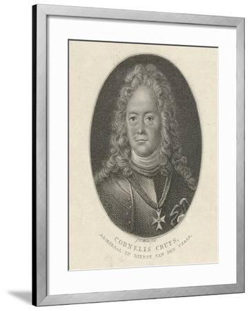Portrait of Cornelius Cruys (1655-172), Vice Admiral of the Imperial Russian Navy, 1818-Jacob Ernst Marcus-Framed Giclee Print