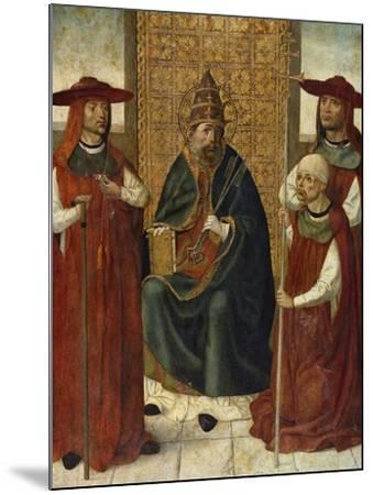 Cardinal Pedro González De Mendoza (1428-149) Praying before Saint Peter, 1490-1495--Mounted Giclee Print