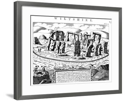 Stonehenge, Wiltshire, 18th Century--Framed Giclee Print