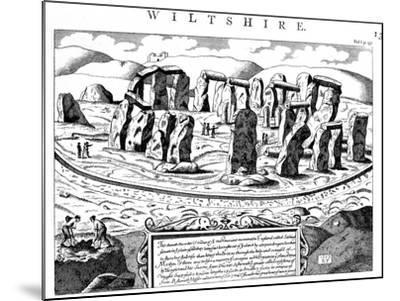 Stonehenge, Wiltshire, 18th Century--Mounted Giclee Print